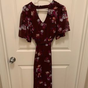 Burgundy Collective Concepts dress